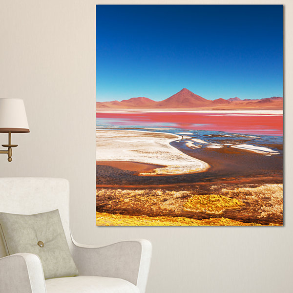 Designart High Mountains In Bolivia Landscape WallArt On Canvas