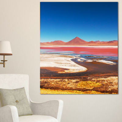 Designart High Mountains In Bolivia Landscape WallArt On Canvas - 3 Panels