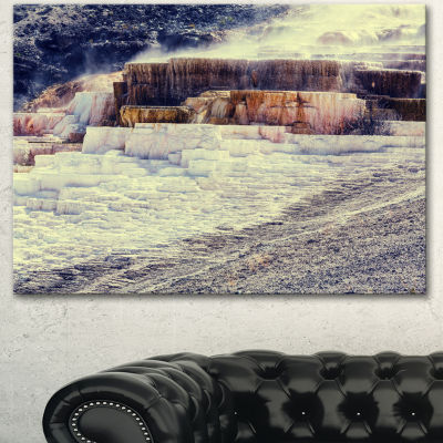 Designart Hot Springs In Yellowstone Seascape Canvas Art Print