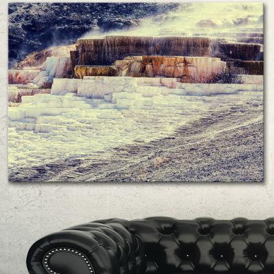 Designart Hot Springs In Yellowstone Seascape Canvas Art Print - 3 Panels