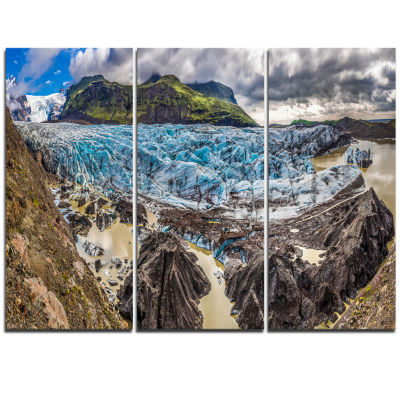 Designart Huge Vatnajokull Glacier Panorama Landscape Print Wall Artwork