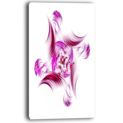 Designart Rotation Of Small Universe Purple FlowerFloral Canvas Art Print