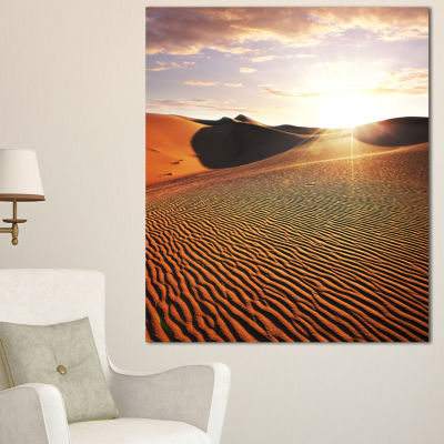 Designart Sahara Desert At Sunset Landscape CanvasArt Print
