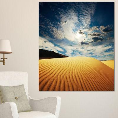 Designart Sahara Desert Under Clouds Oversized Landscape Canvas Art