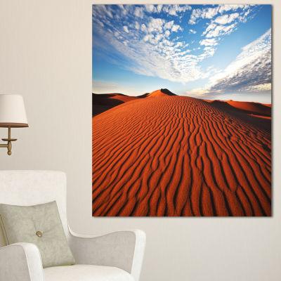 Designart Sahara Dunes Under Bright Sky OversizedLandscape Canvas Art