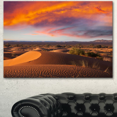 Designart Sahara Dunes Under Colorful Sky Landscape Wall Art On Canvas