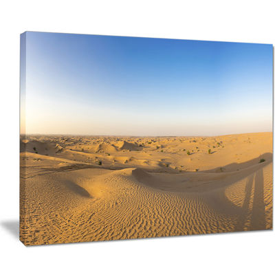 Designart Sand Dunes Desert In Dubai Landscape Artwork Canvas