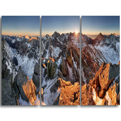 Designart Scenery Of High Mountain With Lake Landscape Print Wall Artwork