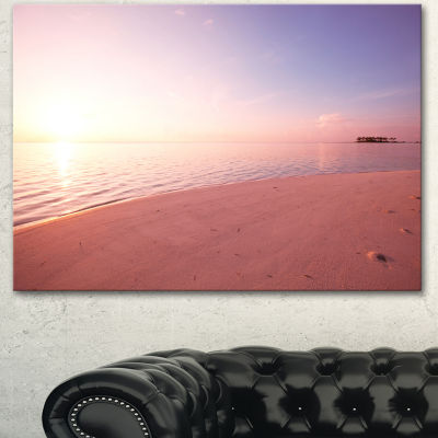 Designart Serene Maldives Seashore At Sunset Oversized Landscape Canvas Art