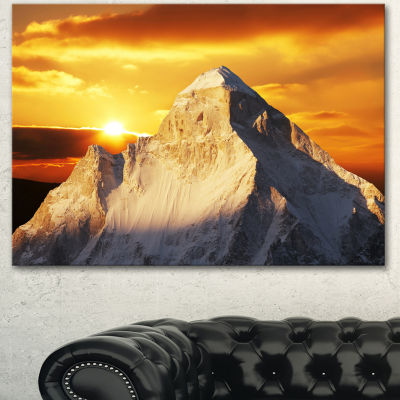 Designart Shivling Garhwal Himalaya At Sunset Landscape Canvas Art Print
