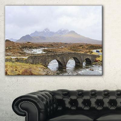 Designart Sligachan Old Bridge Panorama LandscapeArtwork Canvas