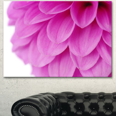 Designart Soft Purple Abstract Flower Petals Floral Canvas Art Print