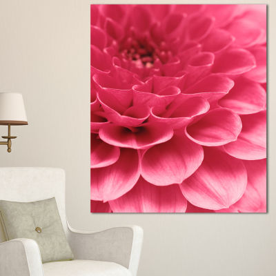 Designart Soft Rose Abstract Flower Petals FloralCanvas Art Print - 3 Panels