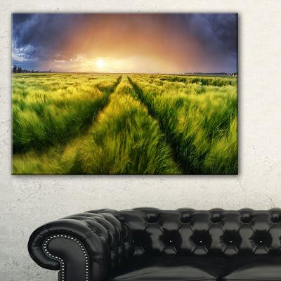 Designart Storm And Light On Meadow Landscape Artwork Canvas