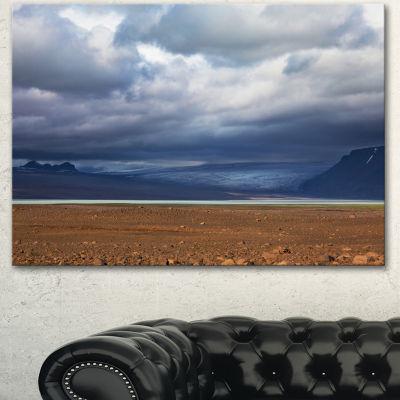 Designart Stretch Of Land Under Blue Sky LandscapeArtwork Canvas - 3 Panels