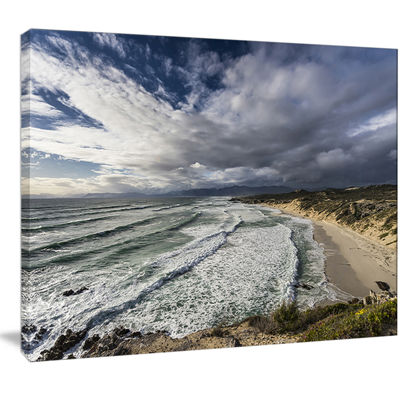 Designart Stunning South Africa Sea Coast Large Seashore Canvas Print