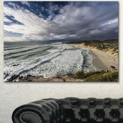 Designart Stunning South Africa Sea Coast Large Seashore Canvas Print - 3 Panels