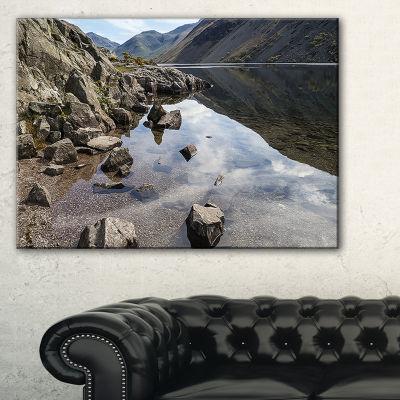 Designart Stunning Wast Water Reflection LandscapeArtwork Canvas