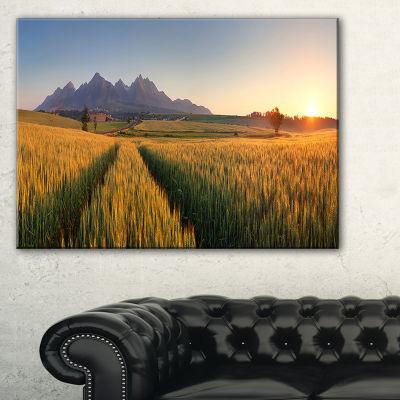 Designart Summer Wheat Fields Slovakia Landscape Artwork Canvas