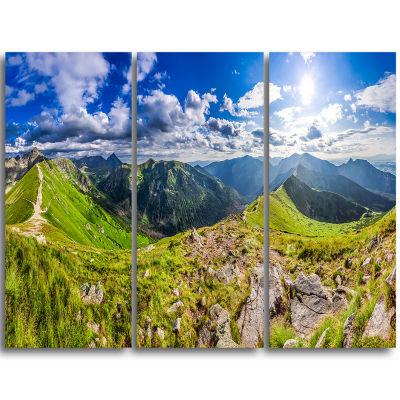 Designart Sunny Day Tatra Mountains Panorama Landscape Print Wall Artwork