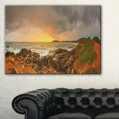 Designart Sunrise At Romantic Beach At Sri LankaLandscape Artwork Canvas