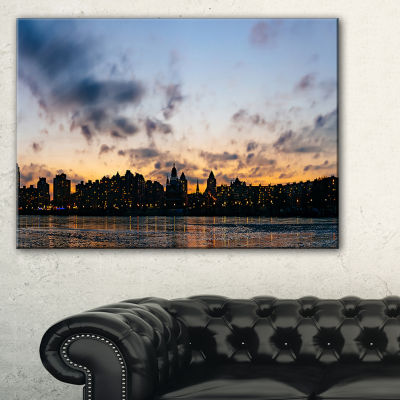 Designart Sunset With Clouds In Kiev Panorama Cityscape Canvas Art Print