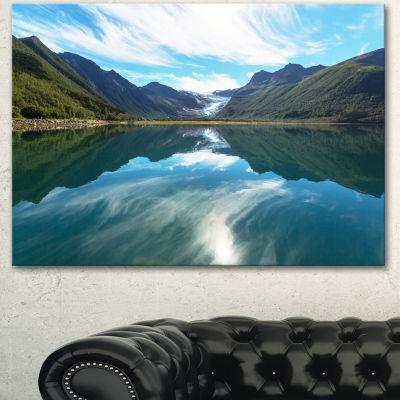 Designart Svartisen Glacier In Norway Landscape Canvas Art Print - 3 Panels