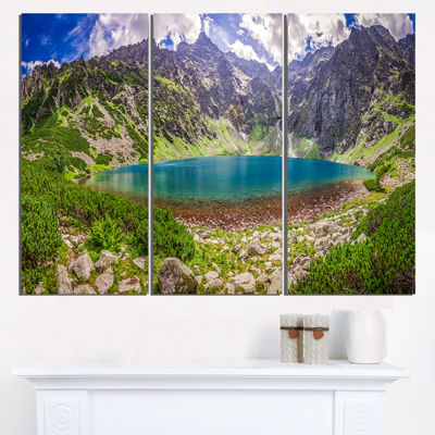 Designart Tatra Mountains At Dawn Panorama Landscape Triptych Canvas Art Print