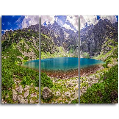 Design Art Tatra Mountains At Dawn Panorama Landscape Triptych Canvas Art Print