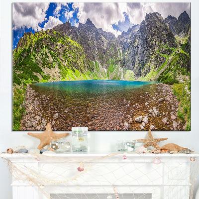 Designart Tatra Mountains Lake Panoramic View Landscape Canvas Art Print
