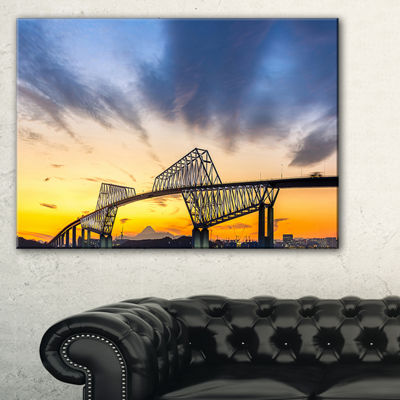 Designart Tokyo Gate Bridge Panorama Landscape Artwork Canvas