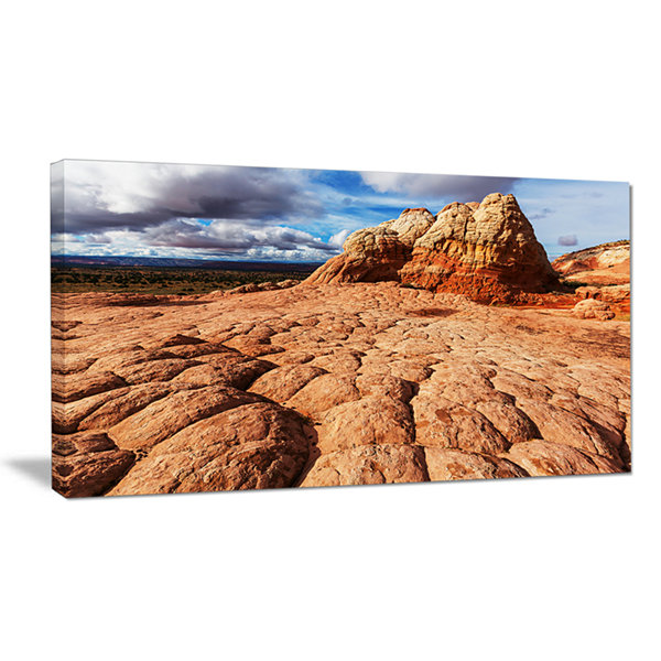 Designart Tough Rocks In Vermillion Cliffs Oversized Landscape Canvas Art
