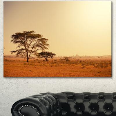 Designart Trees In Large African Landscape AfricanLandscape Canvas Art Print