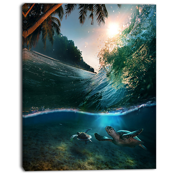 Designart Tropical Paradise Seashore Seascape Canvas Art Print