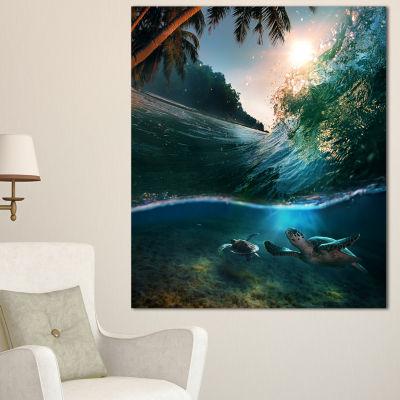 Design Art Tropical Paradise Seashore Seascape Canvas Art Print - 3 Panels