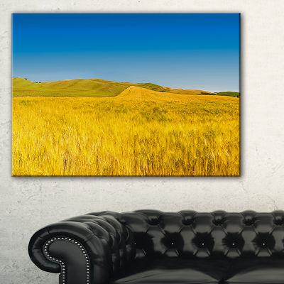 Designart Tuscany Whet Field On Sunny Day Landscape Artwork Canvas