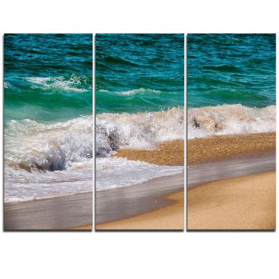 Designart Typical Atlantic Seashore In SummertimeSeashore Triptych Canvas Art Print