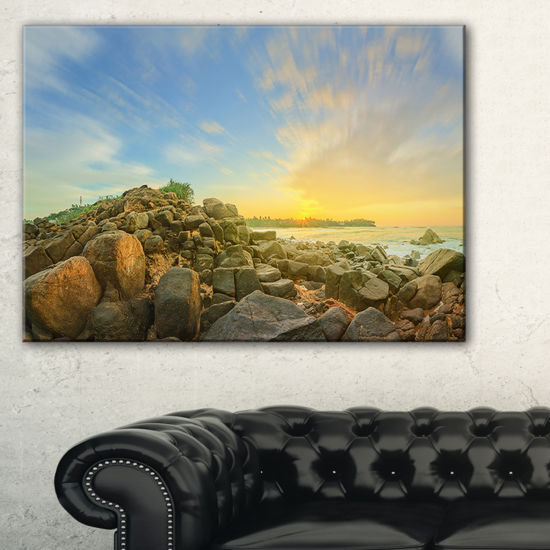 Designart Untouched Romantic Beach Of Sri Lanka Landscape Artwork Canvas