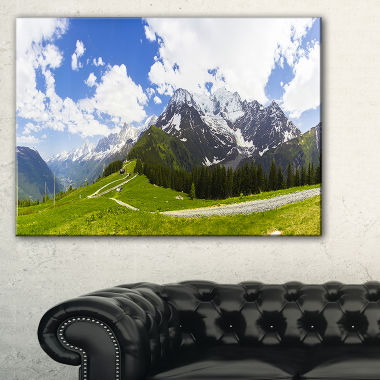 Designart Valley In French Alps Panorama LandscapeArtwork Canvas