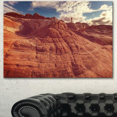 Designart Vermilion Cliffs At Sunrise Oversized Landscape Canvas Art - 3 Panels