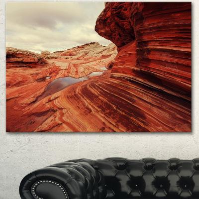 Designart Vermillion Cliffs At Dawn View OversizedLandscape Canvas Art - 3 Panels