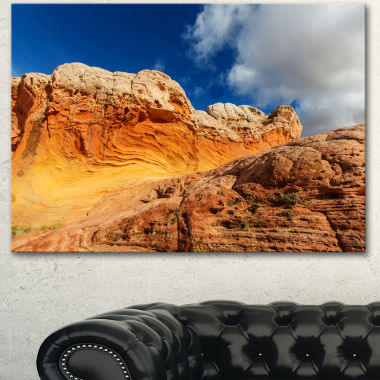 Designart Vermillion Cliffs Under Blue Sky Oversized Landscape Canvas Art