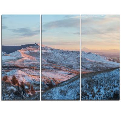 Designart View From Mount Strizhament Landscape Print Wall Artwork