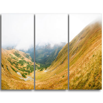 Designart View From Volovec At Tatras Landscape Triptych Canvas Art Print