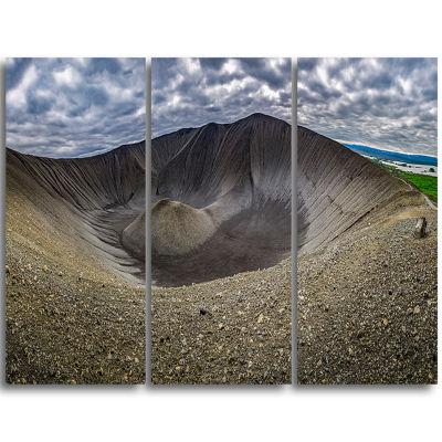 Designart Volcano Crater Dimmu Borgir Landscape Print Wall Artwork