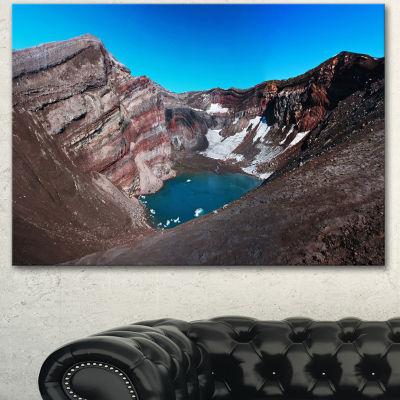 Designart Volcano Kamchatka Panorama Landscape Canvas Wall Art