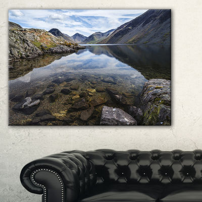 Design Art Wast Water With Reflection In Lake Landscape Artwork Canvas