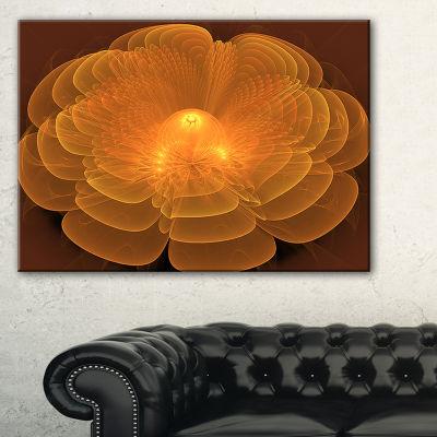 Designart Water Lily Digital Art Fractal Flower Floral Canvas Art Print