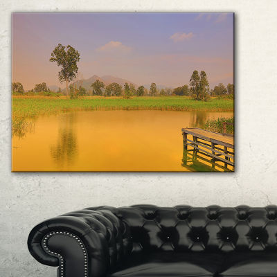 Designart Wetland Of Nam Sang Wai Orange Large Seascape Art Canvas Print