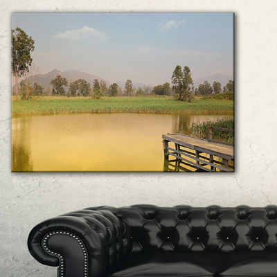 Designart Wetland Of Nam Sang Wai Yellow Large Seascape Art Canvas Print